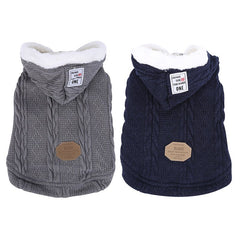 Dog Sweater Clothes Winter Is Very Warm Hoodie Cat Wool Coat