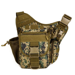 Men Tactical Saddle Waterproof Shoulder Bag