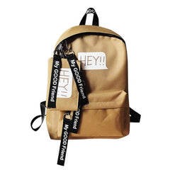 Women school bags canvas backpacks
