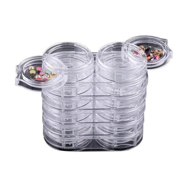 12pc/Set Storage Bottle Plastic Empty Box Case