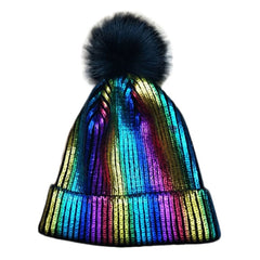 Winter Hats For Unisex Solid Color Stamping Pinstripe