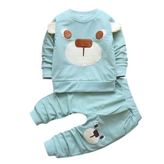 2pcs Infant Baby Boys Clothes Cartoon Bear Set