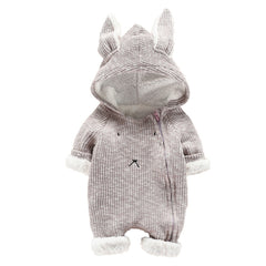 Cute Baby Girl Cartoon Hooded Ear Romper