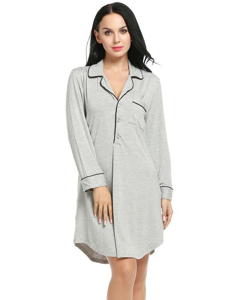 Long Sleeve Sleepwear Autumn Spring Women