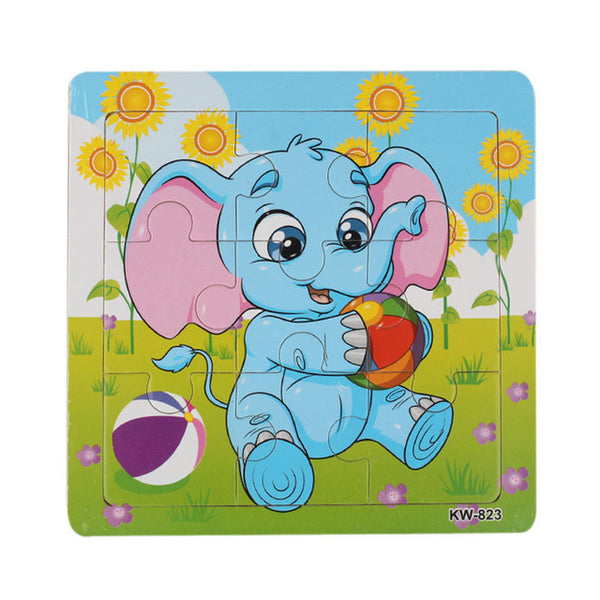 9pcs Wooden Puzzles Animals Jigsaw Toys For Kids