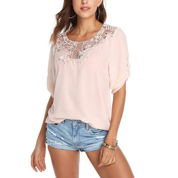 White Shirt Women's Tops and Blouses Solid