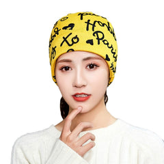 Winter Women Warm Print Hat Casual Beanie Cap