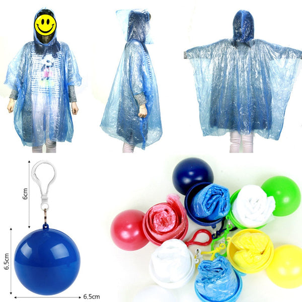 Raincoat Storage Box Transparent Cover Poncho Rainwear