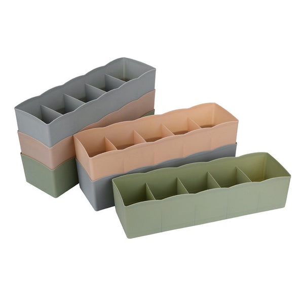 5 Cells Plastic Organizer Storage Box Cosmetic