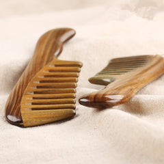 Hair Comb Wide Toothed Wooden Sandalwood