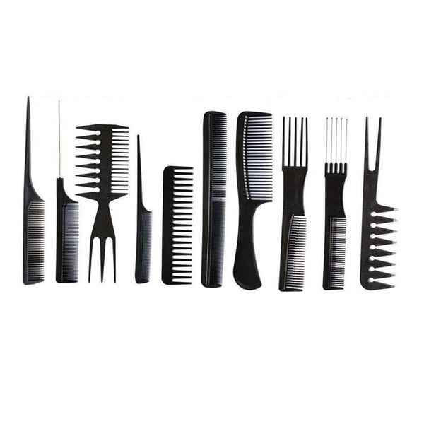 Hairdressing Plastic Barbers Brush Combs Set