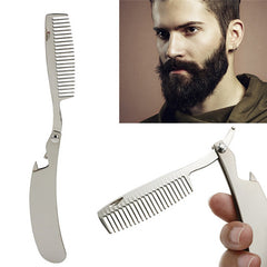 Folding Comb Stainless Steel Mustache