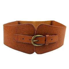 Women's Lady Super Wide Vintage Belt Faux Leather