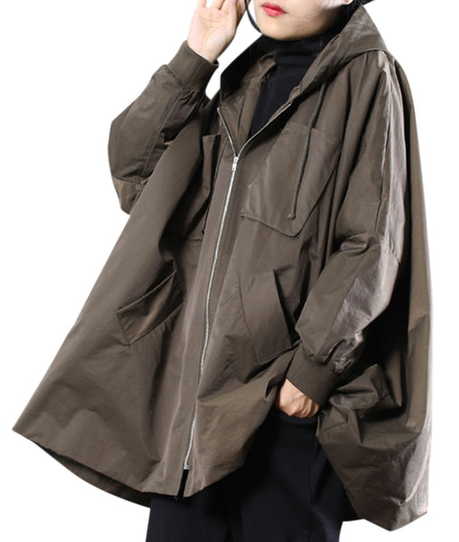 Women Casual Waterproof Rain Jacket Outwear