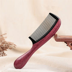 Natural Horn Hair Comb Brush Wooden Spa Massage