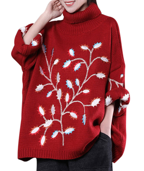 Women Casual Fashion Knitted Sweater Loose Fit Pullovers