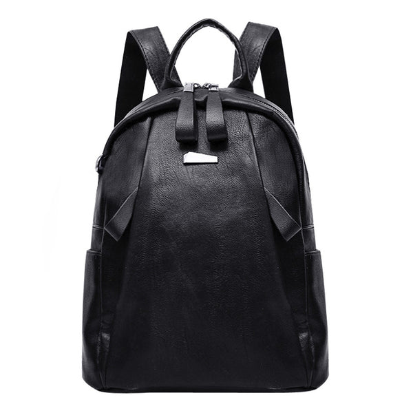 Women PU Leather Fashion Backpack School Bag