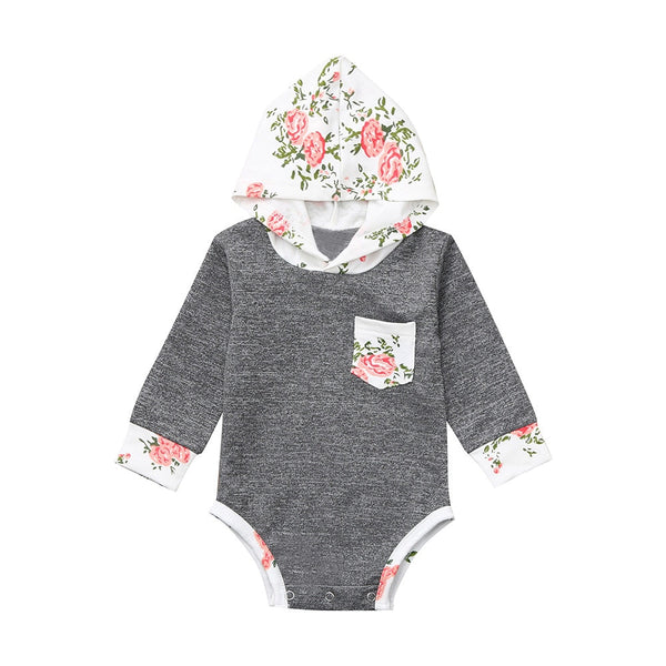 Baby Boy Clothes Hooded Romper Playsuit