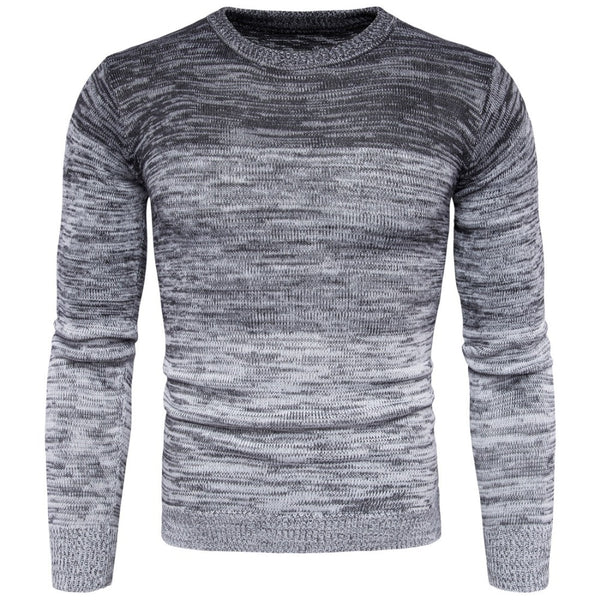 Printed Knitted Sweater Men Pullover Long Sleeve
