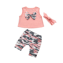 Baby Girls Clothes Set Fashion Sleeveless Tops