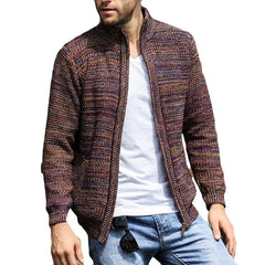 Winter coat Knitted zipper jackets Men's Sweater