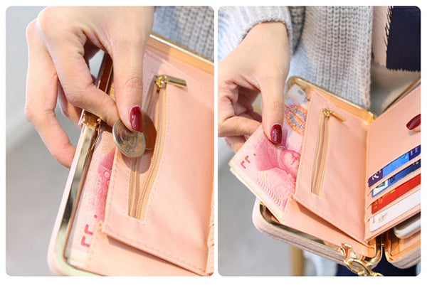 Luxury Women Wallet Phone Bag Leather Case For iPhone 7 6 6s Plus 5s 5 For Samsung Galaxy S7 Edge