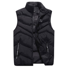 Men Fashion Stand Collar Pure Color Waistcoat Jacket