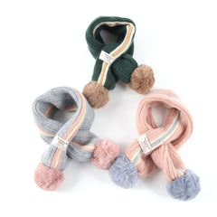 Double Ball Scarf Kids Winter Baby Warm Neck