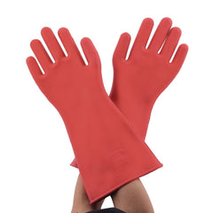Electrical Insulating 1 Pair Of Rubber Safety Gloves