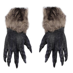 One Pair Werewolf Paws Claws Cosplay Gloves Creepy