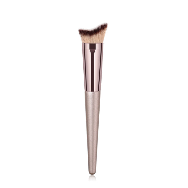 10pcs/set Champagne Nylon Makeup Brushes