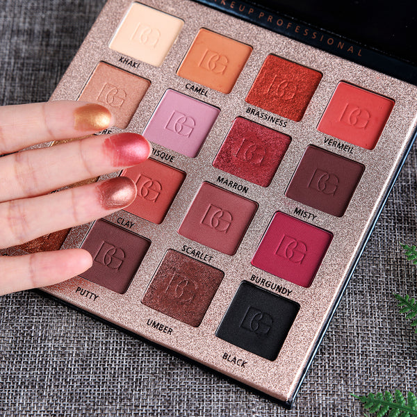 Makeup Eyeshadow 16 Colors Pigment Palette Waterproof