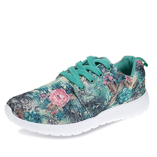 Women Sneakers 3D Flower Print  Running Shoes