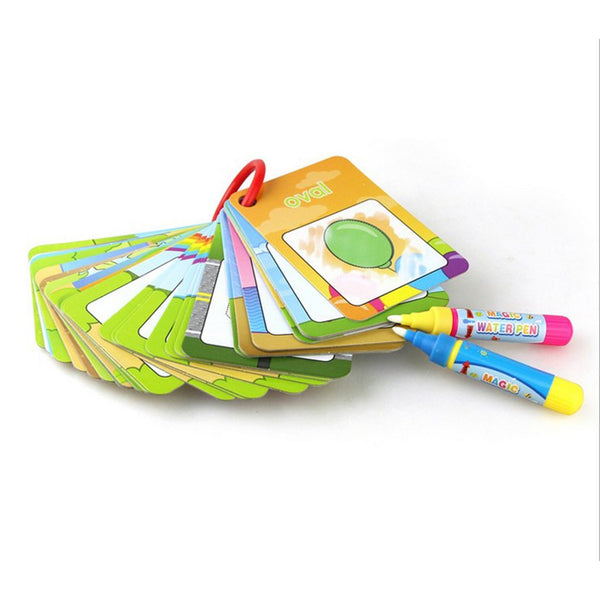 Water Drawing Card Color Book & 2 Magic Pen Painting Board Toys