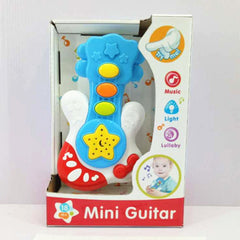 Cartoon Plastic Toy Flashing Mini Guitar Kids Musical Instruments