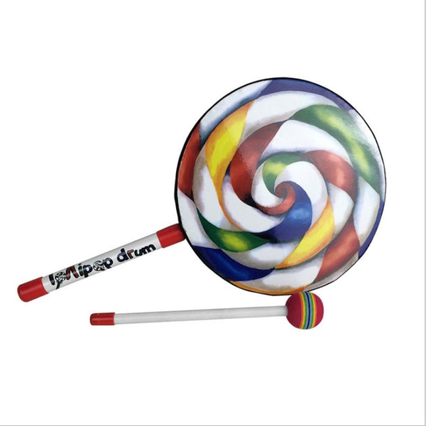 Lollipops Pattern Colorful Drum Instrument For Children Musical Toys