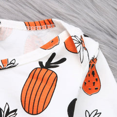 Pineapple Print Jumpsuit Clothes Boys Romper