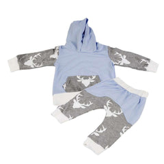 Dear Printed Pockets Cotton Hooded Suit Boys
