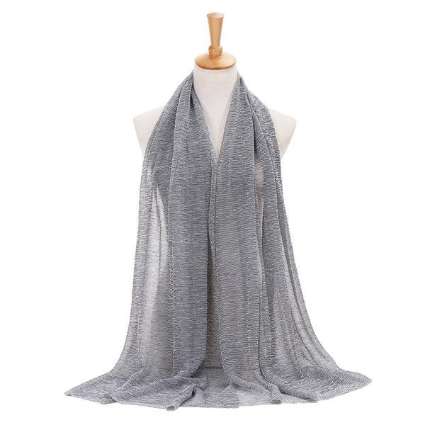 Women Solid Color Long Soft Wrap Winter Triangle Scarf