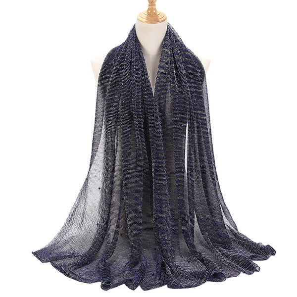 Women Ladies Polyester Scarf Muslim Soft Wrap Long Shawl