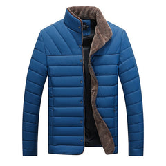 Men's Coat Winter Warm Solid Casual Pocket Button Tops Jacket