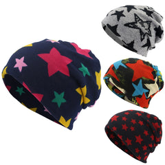 Winter Hats for Women Five-Pointed Star Print