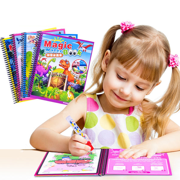 Magic Water Drawing Painting Book Pen Toys For Children
