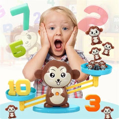 Match game Board Monkey Math Balancing Educational Toy