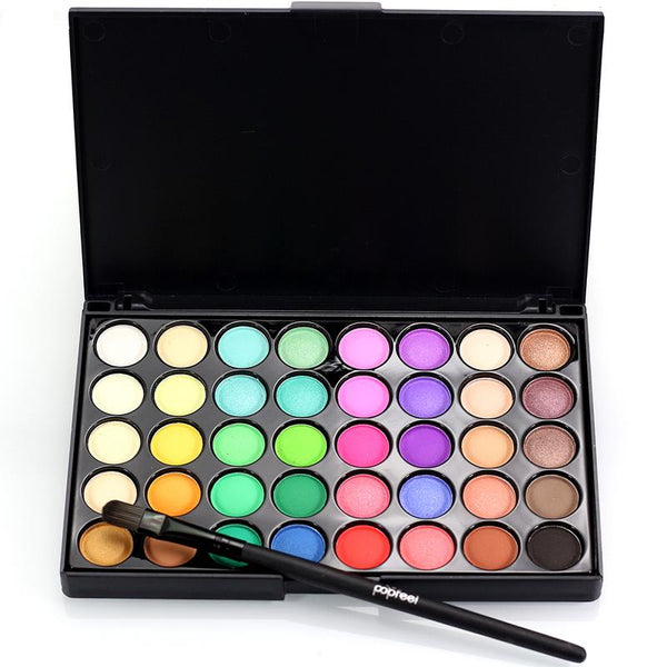 40 Colors Makeup Eyeshadow Palette With Brush For Female