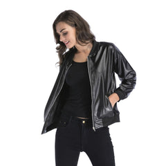 Women Spring Jacket Soft Leather Coats Outerwear