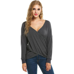 Pullover V-Neck Wrap Women Sweater