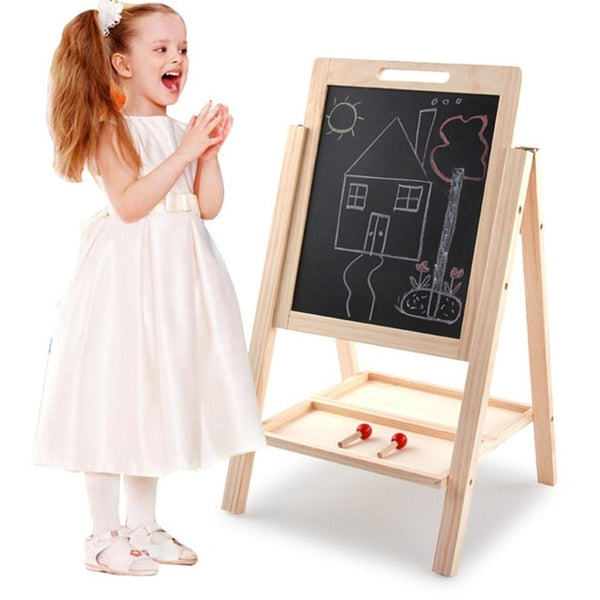 Wooden Children Double-Sided Writing drawing board Toys