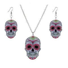 Printing Skull Pendant Necklace