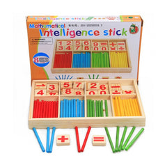 Children Wooden Numbers Count Stick Math Educational Toys